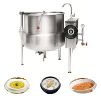 XYQG-H150 Automatic large stainless steel industrial tiltable industrial steam cooking pot jacketed kettle