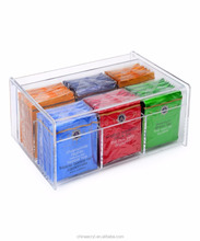 New Products 2016 Clear Acrylic Tea Bag Storage Box