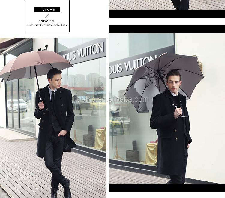 Customized Promotional 23 Inches 8 Panels Walking Stick Golf Umbrella China Manufacturer