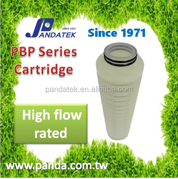 Pleated High Flow Cooling Water Treatment Filtermembrane clarify adhesive material low pressure dropped PBP pleated filter cartr