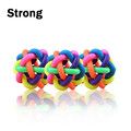 Creative Dog Puppy Pet Knot Cotton Rope knotted Rubber Sound Ball Bell Chewing Toy Colorful Pet Dog Toy