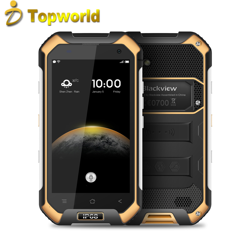 Android 6.0 IP68 Original Blackview BV6000S Mobile Phone 4.7 Inch <strong>720P</strong> Dual Card MTK6737 2G RAM 16G ROM <strong>Quad</strong> Core 4.7 8 MP Phone