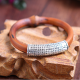 2017 YIWU National Wind Bohemian Modern Jewelry Diamond Sapporo Thai Silver Bracelet Retro Fashion Wooden Bracelet
