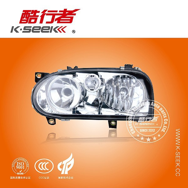 White Head Lamp with LED for VW Golf 3