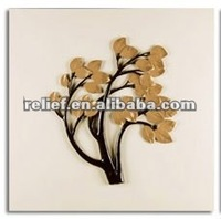 Abstract tree leaf modern relief painting