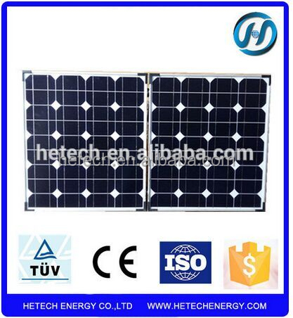 Portable premium quality monocrystalline 80w folding solar panel for 12V Battery Charger with Built-in Charge Controller