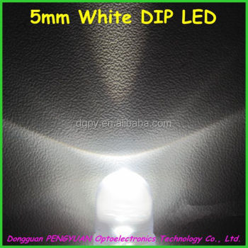 Factory Good Price 5mm Round white Dip led Lighting Diode ( CE & RoHS Compliant )