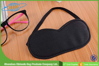 travel black terrycloth disposable eye mask patch