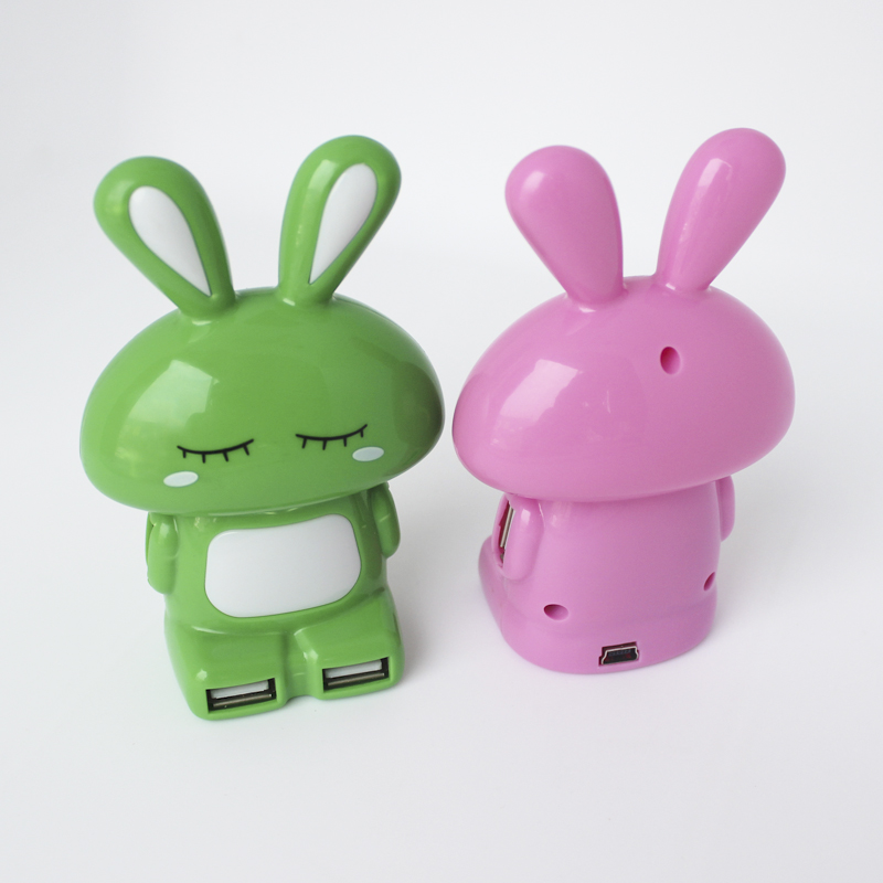 Hot Sale cute rubbit Usb 2.0 Hub For Promotion Gift