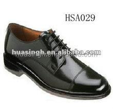 double joint design Genuine leather lace up men military office shoes for Italy
