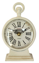 SGS compliance white roman numerals office desk clocks