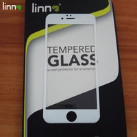 2016 hot selling Sensitive touch carbon fiber screen guard tempered glass protector for iphone 6