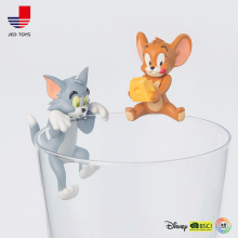 Tom and Jerry Cute Cartoon PVC Action Figures Cat Mouse Animals Toys Model Dolls