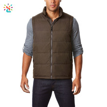 Wholesale down vest mens down vest custom cheap uniform vests packable sleeveless jacket with storage bag