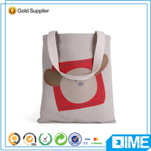 Hot selling brand high quality promotional logo 100% natural cotton canvas bag