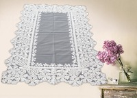 White designe embroidery lace home and hotel decoration table cloth