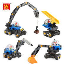 2019 City Construction Engineering Block Tech Machines Large Crane 5 in 1 Bricks Toys Trucks For Educational