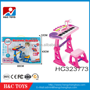 Musical Instrument Electronic Keyboard 37 Key Children Toy Piano With Microphone HC323773