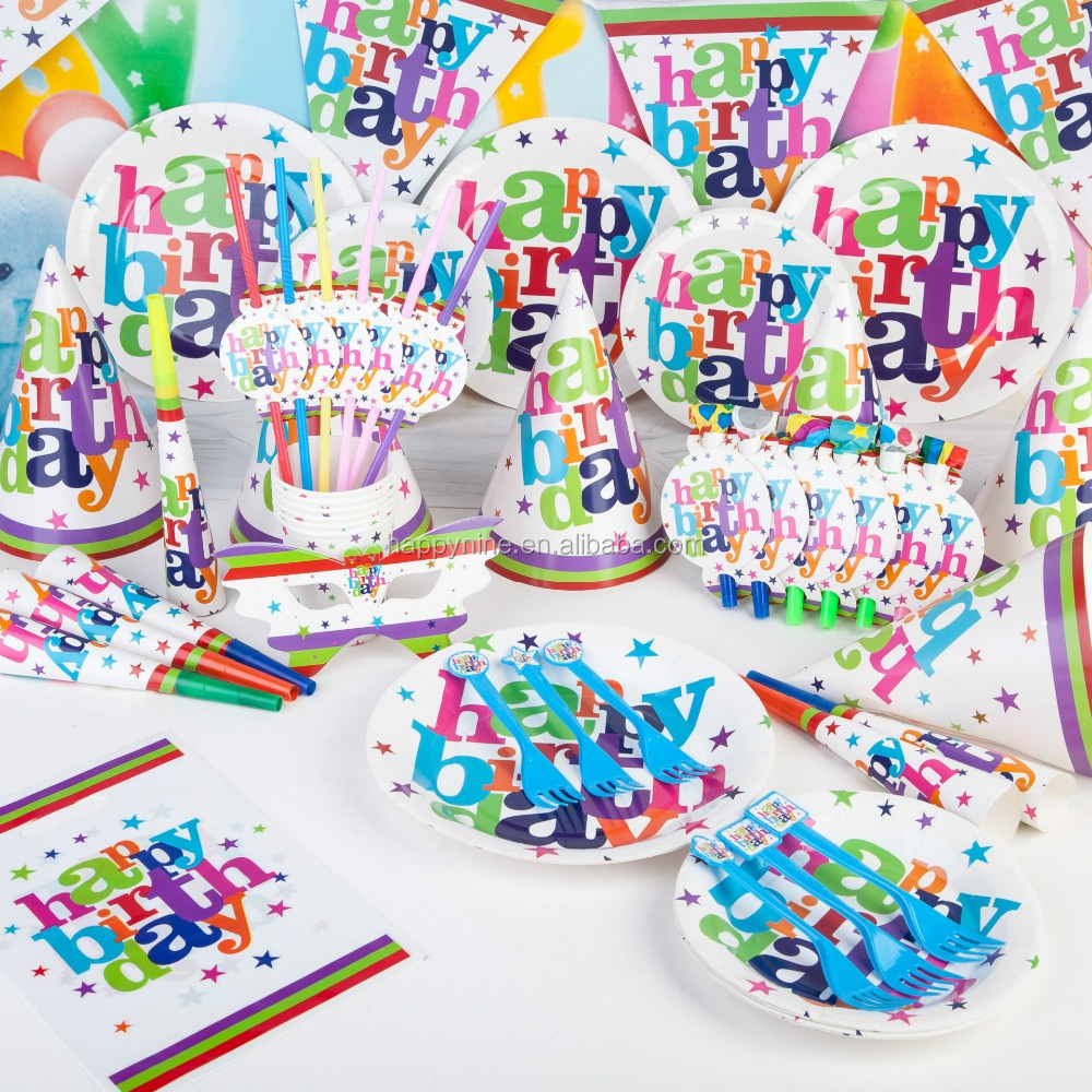 Paper Kids Birthday Party Supplies - Buy Party Supplies,Birthday Party ...