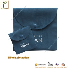 Popwide Luxury velvet Custom suede Jewelry pouch packing with LOGO China manufacturer