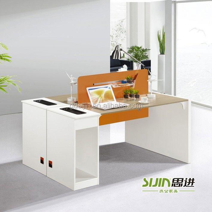 modern melamine office furniture partition and office desk
