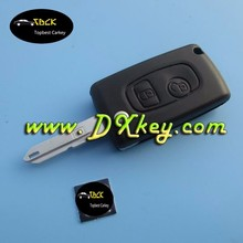 Smart key holder for Peugeot 206 key 2 button flip modified car key remote covers