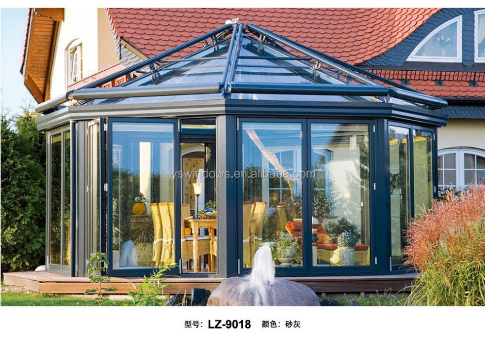 aluminium glass sun room,out door garden glass sun room