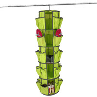 5 tiers Shoe Sweater Bag Carousel Organizer Closet Hanging Shoe Rack round shoe rack for closets