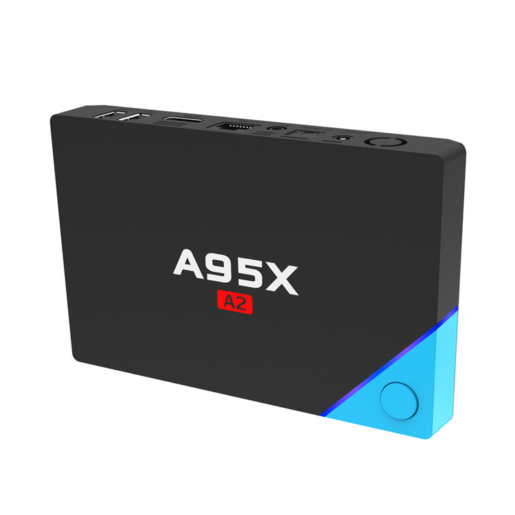 2019 Best price of A95X A2 S912 3GB 32GB infinity digital satellite receiver manufactured in China ott 6.0 tv box smart tv box