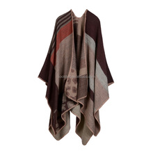 Manufacturers selling imitation diamond plaid shawl, cashmere fashion in Europe and America cloak shawl