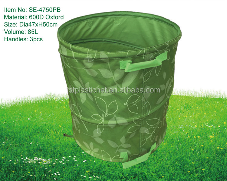 200L oxford pop up Tuin leaf Bag, Tuin afval zak