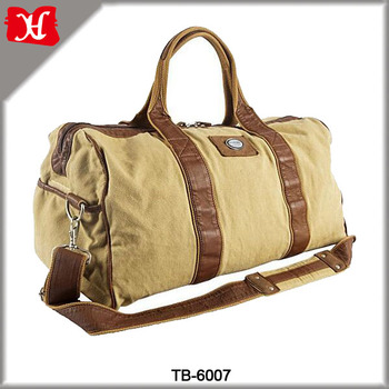 Customized China durable Travel bag large capacity canvas weekender duffel bag