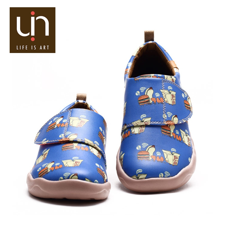 UIN Happy meal microfiber leather wholesale kids shoes for girls