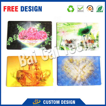 Custom design wholesale factory price high quality colorful 3d lenticular printing card