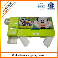 Packing factory wooden pencil box designs for 7'' color pencil set