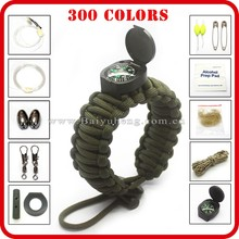 self rescue rope bracelet watch braided paracord bracele