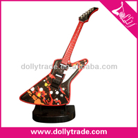 Table Decorative Metal Guitar Model Craft with Plastic Base