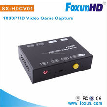 Newest SX-HDVC01 Support 1080p HDMI Video game capture via USB save live streaming hdmi video capture device hdmi card capture