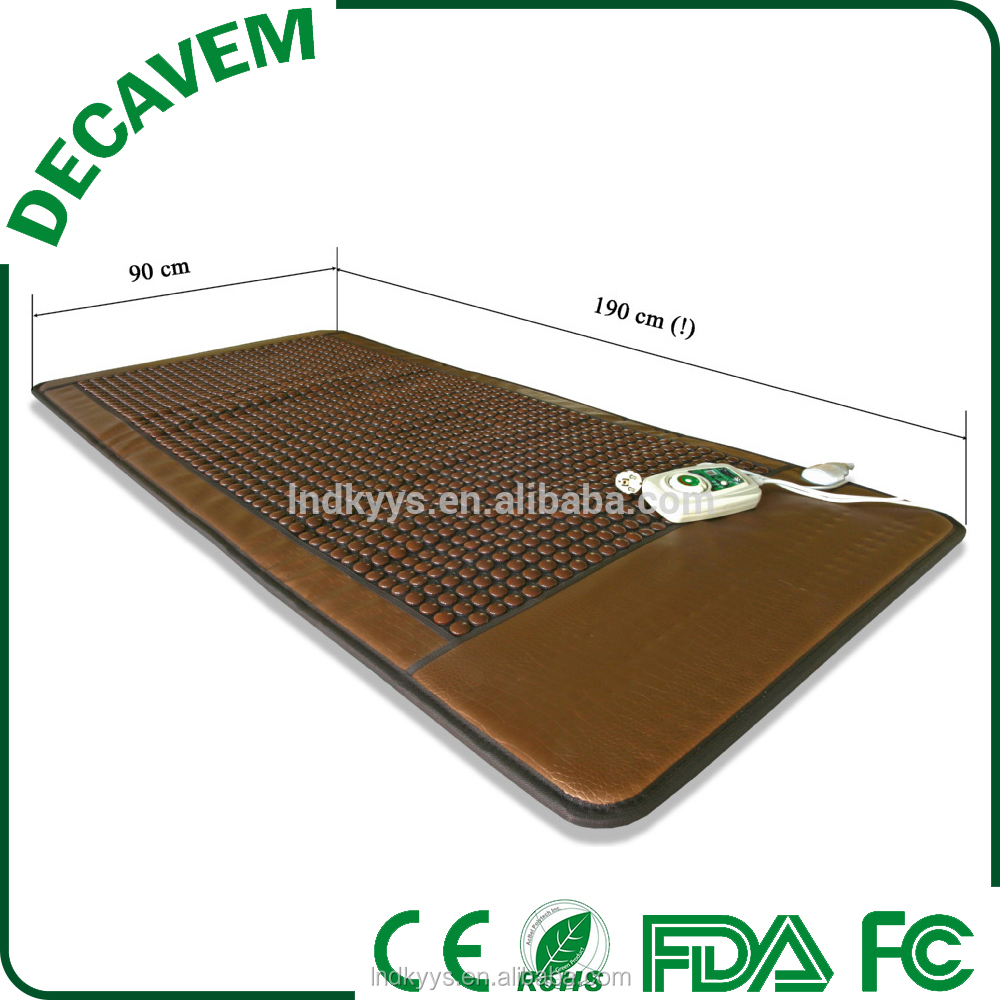 Decavem 90*190cm 1200 stones tourmanium heat mat , nugabest ceragem choyang similar jade massage bed mattress