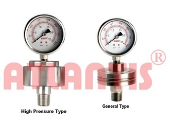 DIAPHRAGM PRESSURE GAUGE Threaded Process Connection- Welded one-piece type