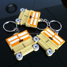 Factory OEM Car Shaped Key chain Double Sided Logos