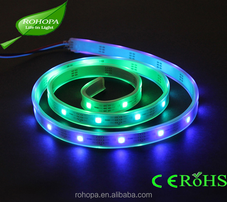 5050 dream color 5M 300LEDs IP67 Silicone Tube Waterproof LED Strip Lights RGB + White Color Mixed LED Strip Light