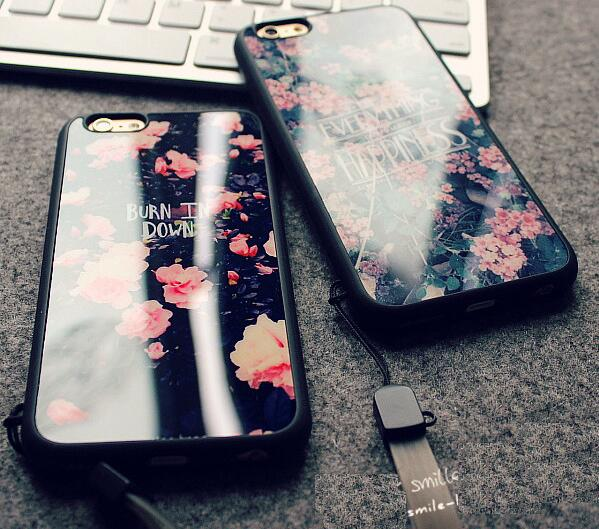 Glossy retro flower for iphone 5 se case back cover China Wholesale made in China