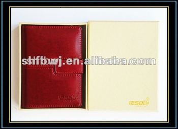 High quality paper decorative leather books&leather portfolio book