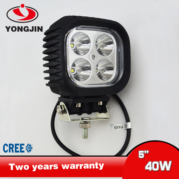 NEW high quality 12v 24v SUV Auto square 40W CREE led work light
