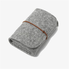 Classic Felt Adapter Package Cover Sleeve Bag for PowerAdapter / Mobile Phone / Charger or Mouse