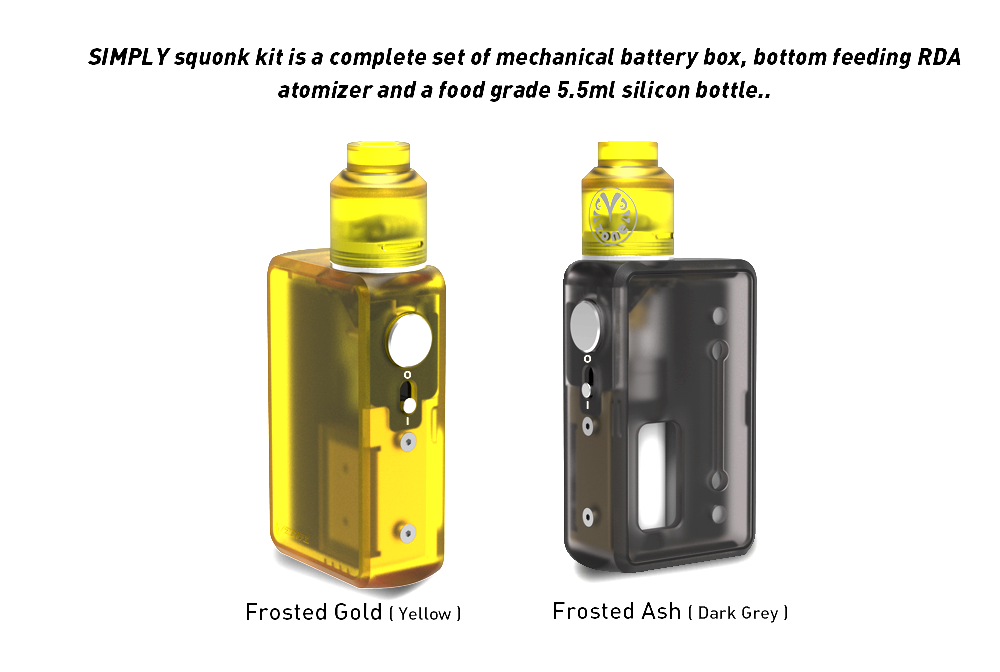 New Products 2017 Squonk Box Mod Express Ali VZONE SIMPLY Squonk Kit With 5.5ml Squonk RDA Tank