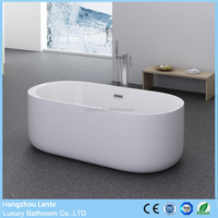 Hot Sale Seamless Clear Acrylic Bathtub with Fiberglass Reinforced from Hangzhou Factory