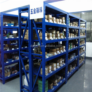 Light Duty Warehouse Storage Racks Slotted Angle Steel Shelving/Logistics Equipment Racking