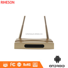 High quality and inexpensive smart tv box Amlogic S905 4K output quad-core 1GB+8GB Android5.1 golden